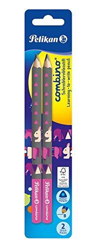Pelikan 811170 Schreiblernbleistift Combino pink, 2 Stück auf Blisterkarte