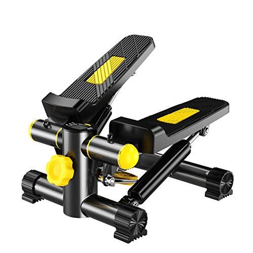 WeiX Stepper,Stepper Cardio Fitness,Mini máquina de Pasos silenciosa portátil con Bandas de Resistencia y Monitor LCD, para Ejercicios aeróbicos, Gimnasio en casa