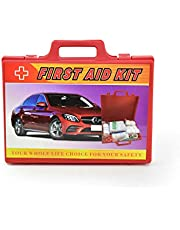 AAA Safe First Aid Kit for Car, Vehicle Safety, ABS Plastic, Easy to Clean, Dustproof - Red