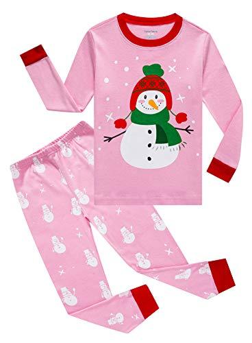 Family Feeling Baby Girls Boys Long Sleeve Christmas Pajamas Sets 100% Cotton Pyjamas Toddler Infant Kids 18-24 Months Snowman