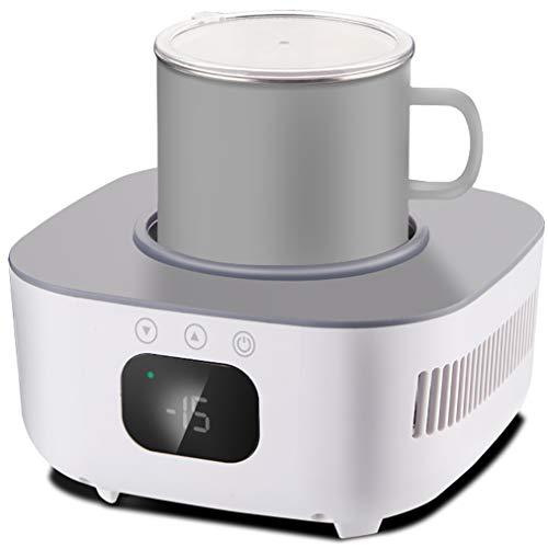 JCJ-Shop Smart Quick Warmer und Kühler, Kühlbecher, große Kapazität 2 Modi Haushaltskeramik-Kühlbecher (weiß)