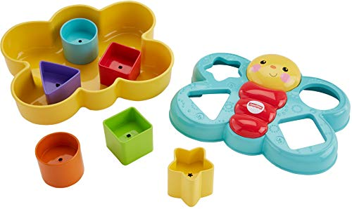 Fisher-Price Butterfly Shape Sorter, Baby Shape Sorter Toy with Different...