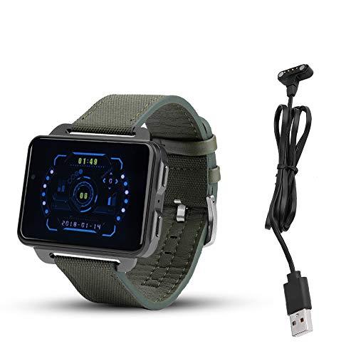 Smartwatch-telefoon, Bluetooth GPS Hartslag IP67 Smartwatch Smartphone-stappenteller voor LEMFO LEM4 Pro voor heren Dames Kinderen (groen)