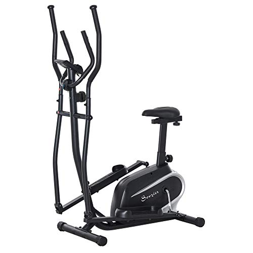 Soozier 2- in -1 Elliptical Machine Magnetic Cardio Workout...