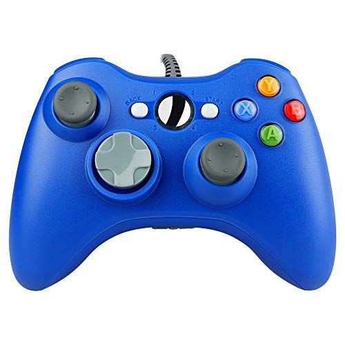 Aiyoudemutou Gamepad Gamepad Controller 360 Cable USB Gamepad Compatible con la Consola Microsoft 360 Windows PC Laptop Blue Gamepad Controlador Gamepad