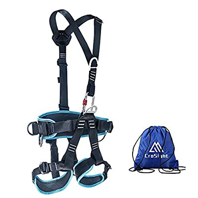 CroSight Climbing Harness Tree Climbing Gear - Full Body Climbing Saddle for Rappelling, Fire Rescue, Outward Band Expanding Training and Can Be Disassembled Into Half Body Harness