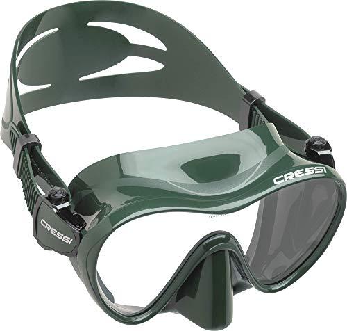 Cressi F1 Maske - Frahmenlose Maske zum Tauchen und Schnorcheln, Größe L - S