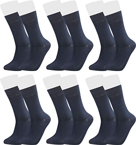 Vitasox 43044 Bambus Socken für Damen und Herren, atmungsaktive Bambussocken mit weichem Komfortb& ohne Gummi, Qualitäts Strümpfe gegen Schweiß ohne Naht an den Zehen, 6 Paar jeans 35-38