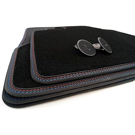 Fußmatten E63 Velour Doppelnaht Rot Blau M6 Edition Automatten 4 Teilig Auto