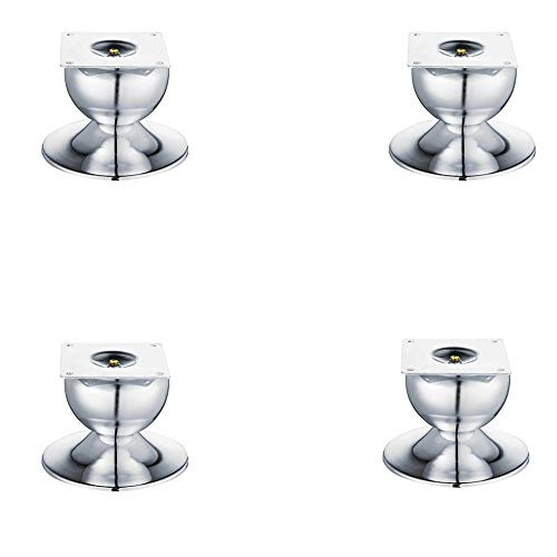 4x Möbelstützbeine, Legierungsmaterial wasserdicht und feuchtigkeitsbeständig Geeignet für Couchtisch-Schlafsofa und andere Möbel/Silber / 87mm