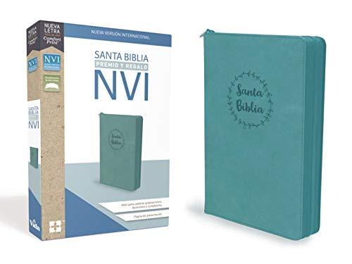 Compare Textbook Prices for Santa Biblia de Premio y Regalo NVI, Leathersoft, Aqua con Cremallera Spanish Edition  ISBN 9780829769166 by NVI-Nueva Version International