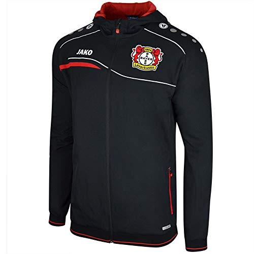 Jako Bayer 04 Leverkusen Einlaufjacke mit Kapuze schwarz-rot Kinder schwarz/rot, 128