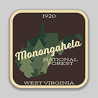 JMM Industries Monogahela National Forest West Virginia Vinyl Decal Sticker Car Window Bumper 2-Pack 4-Inches 4-Inches Premium Quality UV-Protective Laminate PDS1430