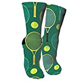 zhouyongz Chaussettes de Compression pour Raquettes de Tennis Bleues et Vertes pour Femmes et Hommes Meilleur athlétisme, Course à Pied, vol, voy