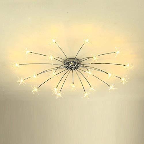 LED plafondlamp kroonluchter modern design kinderen plafondlamp metaal indoor decoratieve spots meteor hanglamp gloeilamp voor woonkamer slaapkamer balkon hal bar snoerloze 15 lampen