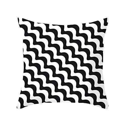 Noete Decoratieve kussensloop geometrisch abstract zwart en wit kussen cover auto bank kussen cover huishoudtextiel voor bank auto slaapkamer huis decoratie 45 * 45 cm