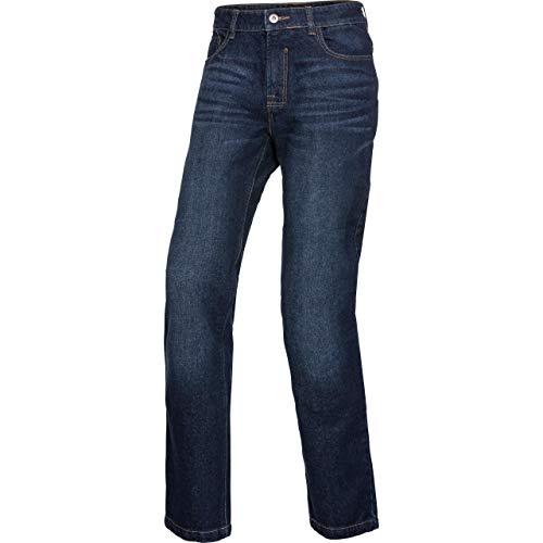 Spirit Motors Motorrad Jeans Motorradhose Motorradjeans Herren Jeans mit Schutzfunktion, 5-Pocket-Jeans im Boot-Cut Style, Knieprotektoren-Taschen, abriebfeste Aramid-/Baumwolljeans, Dunkelblau, 36/32