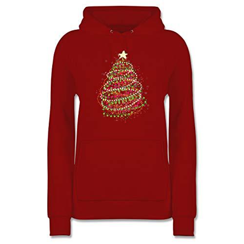 Weihnachten & Silvester - Abstrakter Weihnachtsbaum - L - Rot - Weihnachten - JH001F - Damen Hoodie und Kapuzenpullover für Frauen
