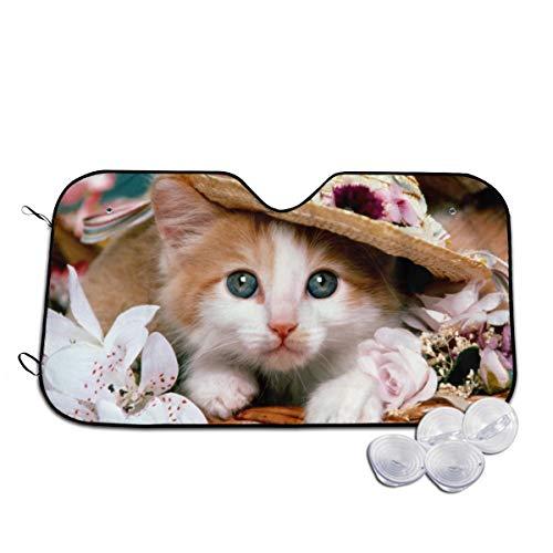 Voorruit zon schaduw vizier voorraam glas voorkomen dat de auto van het verwarmen van binnen dier mand kat bloem hoed Kitten Teddy beer gepersonaliseerd
