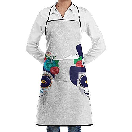 alice-shop Dia De Los Muertos Tag Tote Feiertage lustiges Backen-Schutzblech-Neuheit-kochendes Chef-Geschenk für Männer u. Ndash