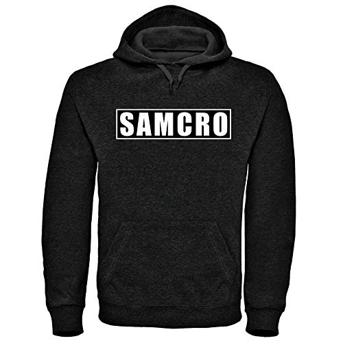 Sons of Anarchy Samcro Kapuzenpullover, Größen S-3XL, Redwood Original, Jax Teller Gr. L, schwarz