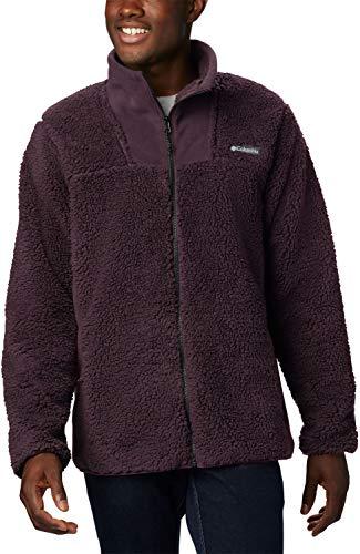Columbia Herren Winter Pass Fleece-jacke mit Durchgehendem Reißverschluss, Lila/Grau (Black Cherry, Shark), L
