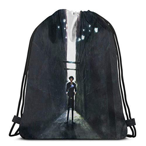 WH-CLA Cinch Bags Cowboy Bebop Spike Spiegel Outdoor Sport Storage Goodie Bags Sack Unique Durable Printed...