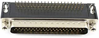 FidgetKute Plug Adapter Connector 3 Rows DB62M 5Pcs New D-SUB 62 Pin Male Right Angle
