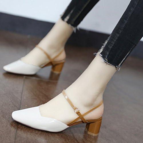 Xue Qiqi première lumière de petites chaussures en cuir verni voyage avec la tête d'air arrière sandales chaussures confortables, et,37, Beige