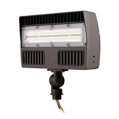 ELECALL LED Flood Light, 45W/5670Lumen, 5000K, Waterproof, IP65, 120-277V, ETL-Listed, Slim-Design