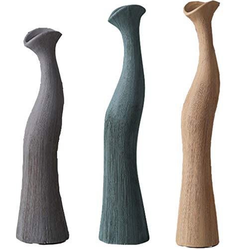 YUESFZ Vasi in Ceramica Creativa Moderna, Mestieri del Disegno della Curva della Tabella, Decorazione Floreale Artificiale nel Soggiorno, (Size : 30+40+49cm)