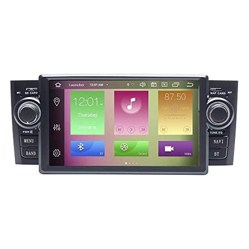 JIBO 7' Android 10.0 Octa Centro Estéreo GPS Navegación Multimedia Jugador por Fiat Grande Punto Linea 2007-2012 Auto Cabeza Unidad Teléfono Control SWC Auto Radio Audio Receptor