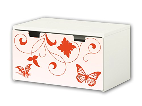STIKKIPIX Mariposas Pegatina | Pegatinas para Muebles | BT36 | Adecuado para el arcón de Banco STUVA de IKEA para niños (90 x 50 cm) arcón de Juguetes y Banco | (Mueble no Incluido)