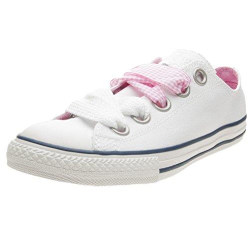 Converse Scarpe Sneakers Chuck Taylor All Star Ox Bambine Ragazze Bianco 660974C