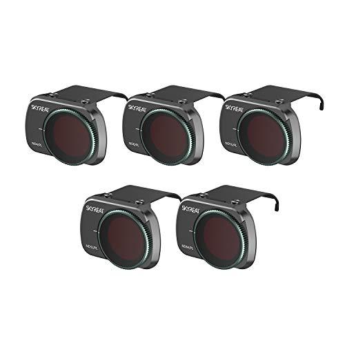 Skyreat ND Filter Set 5er-Pack (ND4PL ND8PL ND16PL ND32PL ND64PL) kompatibel mit DJI Mavic Mini Kamera