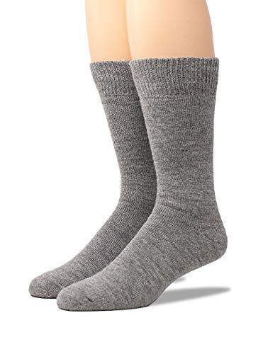 Warrior Alpaca Socks - Women's Outdoor Alpaca Wool Socks, Terry Lined with Comfort Band Opening (Smoke Medium)