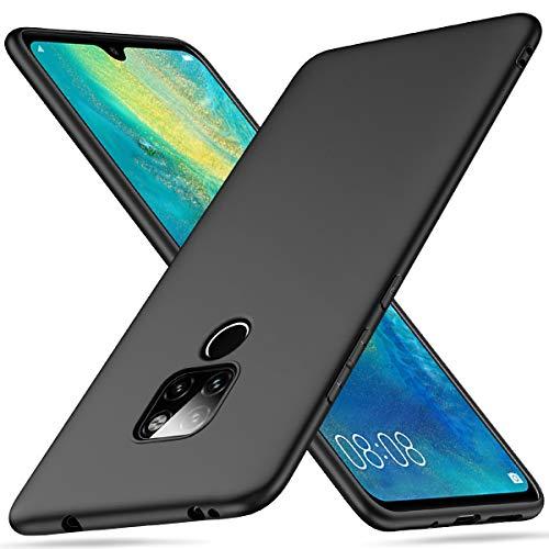 Peakally Huawei Mate 20 Hülle, Matte Oberfläche Soft Hüllen [Ultra Dünn] [Kratzfest] TPU Schutzhülle Case Weiche Handyhülle für Huawei Mate 20 -Schwarz