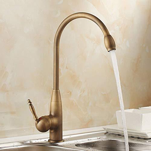XY-YZGF Küchenarmaturen SSL-9815 Waschbecken Armaturen Kupfer Material Keramik Ventil, heißes und kaltes Wasser, Spülbecken Mischbatterien, Waschbecken Wasserhahn, Historisch Kupfer Farbe