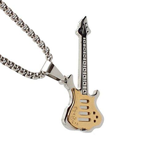 LALOPEZ Tide M?nner Rock Pers?nlichkeit Gitarre Titan Stahl Halskette Anh?nger