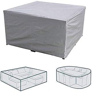 dDanke Patio Set Cover Sun Block Snowproof Windproof Dustproof Furniture Cover 180x120x74cm (Sliver)