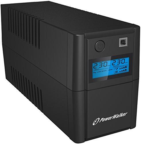 PowerWalker VI 850SE LCD / IEC (UPS) 850 VA 4 AC AC Interactive Line - Alimentazione continua, (UPS) (850 VA, 480 W, 170 V, 280 V, 230 V), Nero