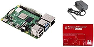 Raspberry Pi4 ModelB 4GB ラズベリーパイ4 電源2点セット技適対応品(Pi4本体・5V/3A電源アダプタ1.0m Type C)