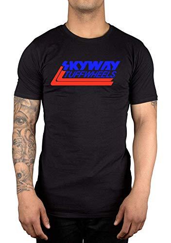 Htty Skyway Tuff Wheels New Retro BMX T-Shirt Cycling Bandit Bike Mongoose Black