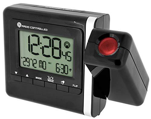 Krippl-Watches Funkprojektionswecker, Farbe:schwarz