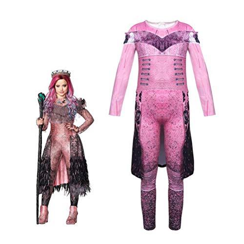 Descendientes Audrey/Mal Disfraces con Peluca Traje de superhéroe Halloween Cosplay Mono Vestido de dragón