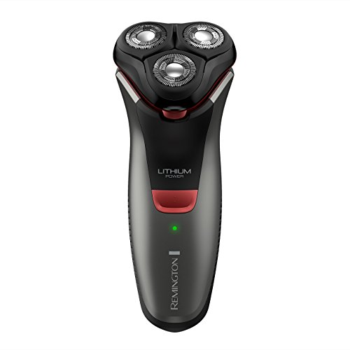Remington R4000 Series Electric Rotary Shaver, Fully Washable, Black/Red, PR1340 (Renewed)