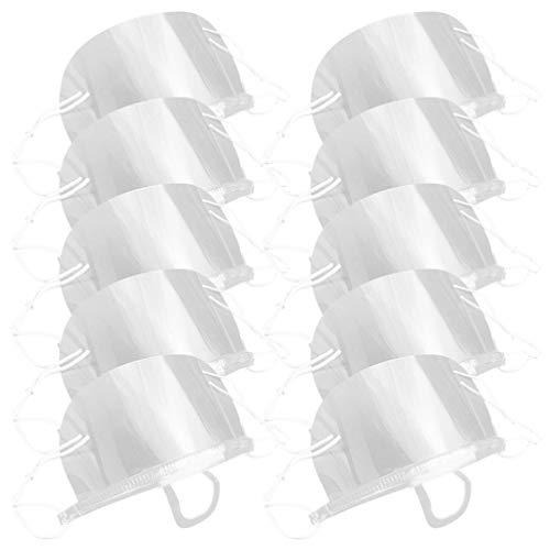 10 Stück Mundschutz Schilder Transparente Praktische Gesichtsschutz Zahn Mund Anti Spucken Schutz für Hotel Restaurant Küche Koch Zahnarzt