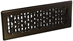 Scroll Design steel plated - Rubbed Bronze Finish floor register Easy to install - Just drop into vent - no tools required Metal damper boxes rust and seize up, so we make our damper boxes with high impact plastic. This is not a cheaper option, it's ...