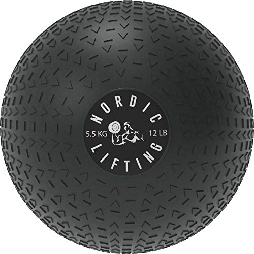 Dead Weight Slam Ball for Crossfit - Textured Slamball for Core & Fitness Training by Nordic Lifting - 12 lb