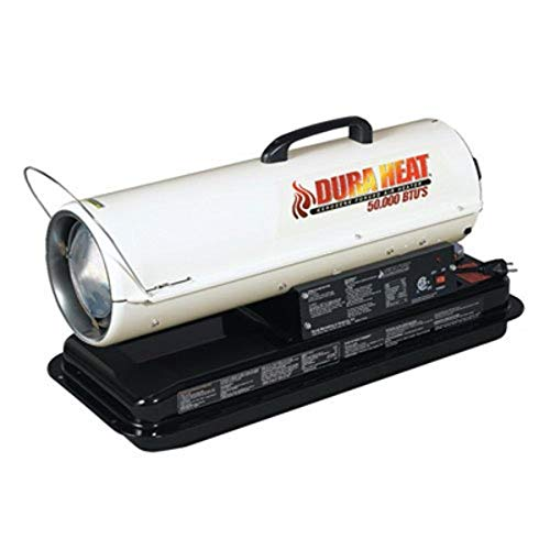 Dura Heat DFA50 50K BTU Kero Forced Air Heater with Carrying Handle
